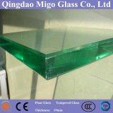 Архитектурноакустическое листовое стекл поплавка ранга 19mm плоское ясное