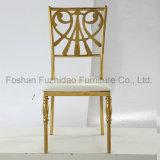 Aço inoxidável clássico de projeto moderno que janta a cadeira