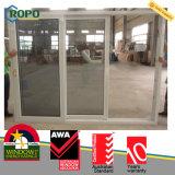Оптовая деревянная раздвижная дверь цвета UPVC пластичная с двойным стеклом