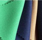 人のスーツのデニムのあや織り可融性に編まれたポリエステルビスコースに行間に書き込むこと
