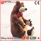 Urso de Brown macio realístico do luxuoso do animal enchido do brinquedo