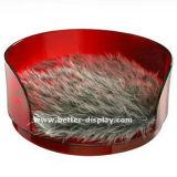 Tazón de fuente plástico Btr-S1026 del animal doméstico del alimentador del animal doméstico