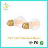 Diodo emissor de luz do poder superior do filamento A15 6W E26/E27 Dimmable do diodo emissor de luz de Edison