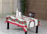 PVC popular Tablecover impreso material del mantel del paño de vector de la Navidad de la Caliente-Venta