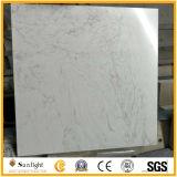 순수한 백색 인공적인 대리석 돌 대리석