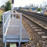 Grata d'acciaio antiruggine ed antisdrucciolevole per la ferrovia