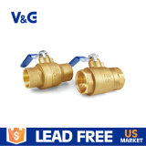 "2 1/2 ""Cupc NSF Standards Iron Handle Forging Lf Lead Free Material Válvulas de esfera de latão de 400wog de porta completa"