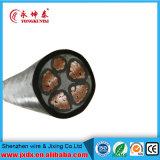 Câble d'alimentation engainé par PVC d'isolation du faisceau 0.6/1kv Electrical/XLPE de Yjv/Yjy 4+1