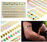 Etiqueta engomada temporal impermeable metálica de destello colorida del tatuaje