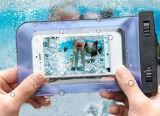 Чернь сотового телефона способа в случай iPhone 6 водоустойчивый, мешок инструмента PVC Unversal высокого качества водоустойчивый на iPhone 7