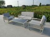 帆ロープの織り方のCrylic表屋外の家具4部分のソファーの