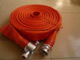 """Tuyau d'incendie rayé par caoutchouc élevé de la vente 2.5 """" avec le couplage en aluminium britannique"""