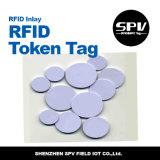 Tag Rewritable da moeda de NFC para a identificação