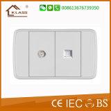 2017 새로운 호텔 디자인 10A 2 Pin 벽면 소켓