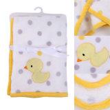 Heiße Verkaufs-Krippe-Baby-Zudecke mit Ente-Stickerei