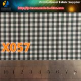 3mmの陽イオンのギンガムの小切手ファブリック、衣服(X055-57)のための防水のポリエステルファブリック