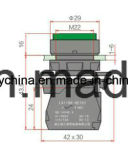 Colori rossi e verdi dell'interruttore di pulsante di Dia22mm-La118kaln, tensione 6V-380V