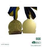 Médailles d'or bon marché d'effet de miroir de logo de la coutume 3D