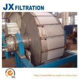 Aspiradora con un filtro de tambor rotatorio Pre-Coating
