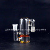 Coletor de vidro da cinza do disco do favo de mel triplo por atacado para a tubulação de fumo
