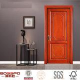 Porte intérieure principale de bois de construction en bois fait sur commande de fabrication (GSP2-056)