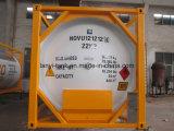 El tanque de almacenaje a granel de los productos químicos