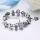 Colgante de la mariposa de la vendimia y pulseras y brazaletes de los granos de cristal para la joyería de las mujeres DIY