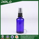 Glasspray-Flaschen des Kobalt-50ml mit schwarzem Lotion-Pumpen-Sprüher