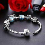 Donne Pendant d'avanguardia del braccialetto & braccialetti svegli del delfino di fascino del cuore dei branelli dell'azzurro
