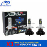 Aftermarket 40W 4500lm 6000k X3 LED Phare Philips H4 Hi / Lo Auto LED, phare avant de la moto LED, phare avant LED