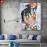 Hete Sexy Vrouw in Olieverfschilderij van de Kunst van de Muur van de Bikini het Abstracte