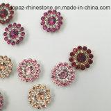 O ajuste frouxo novo da garra da flor de 2017 cristais da venda por atacado 7mm Swaro da chegada Sew nos grânulos de vidro (o fúcsia de TP-7mm redondo)