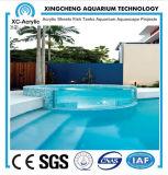 Kundenspezifischer Größen-Swimmingpool verwendet mit transparentem Acrylblatt