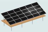Crémaillère solaire au sol de support d'alignement horizontal du panneau quatre