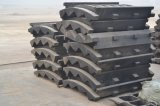 Plaque de maxillaire d'acier de manganèse de pièces de rechange de broyeur de bâti