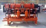 HVAC를 위한 390kw에 의하여 주문을 받아서 만들어지는 고능률 Industria 물에 의하여 냉각되는 나사 냉각장치