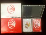 Kundenspezifische waschbare 100% spielende Schürhaken-Plastikkarten, kundenspezifische Spielkarte