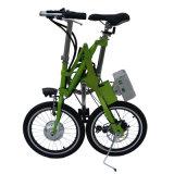 Bicicleta elétrica portátil do aço de carbono da bicicleta