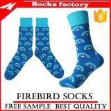 Nette bunte 100% Baumwollkleid-Socken und Zoll