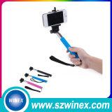 Cámara sin hilos extensible Bluetooth elegante Monopod de Bluetooth Monopod del palillo de Selfie con el trípode