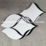 Patrones Waterjet de mármol blancos de Carrara, azulejos de mosaico Waterjet de Thassos