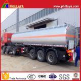 3axles Tanker van de Brandstof van het Roestvrij staal van de Aanhangwagen van de Tank van de olie de Mobiele Semi met Volume 3060cbm