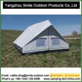 Barraca de acampamento quadrada da grande lona luxuosa provisória do safari