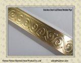 De in reliëf gemaakte Gelaste Pijp van de Decoratie van het Roestvrij staal