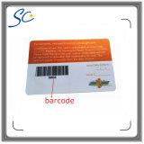 Venta directa de la fábrica Tarjeta de regalo plástica del código de barras