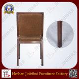 La tela de aluminio tapizó la silla del banquete del comedor (BH-FM3018)