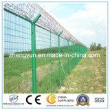 電流を通された溶接された金網の塀空港塀