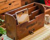 Подгонянная промотированием отлакированная прямоугольная коробка твердой древесины для хранения