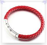 De Armband van het Leer van de Juwelen van het Roestvrij staal van de Manier van juwelen (LB008)