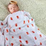 Manta orgánica modificada para requisitos particulares fábrica del bebé de la muselina